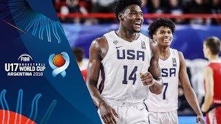 USA v Croatia - Condensed Game - Quarter-Finals - FIBA U17 Basketball World Cup 2018