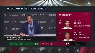 Erik Spoelstra -- Miami Heat vs. Milwaukee Bucks 01/14/2018