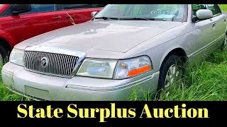 Dodge Charger and Grand Marquis at Government Auction