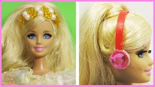 3 DIY Miniature Accessories & Handbag for Barbie Dolls 👜