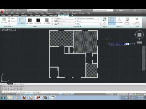 AutoCAD 2012 urdu tutorial part10 - Hatch Patterns