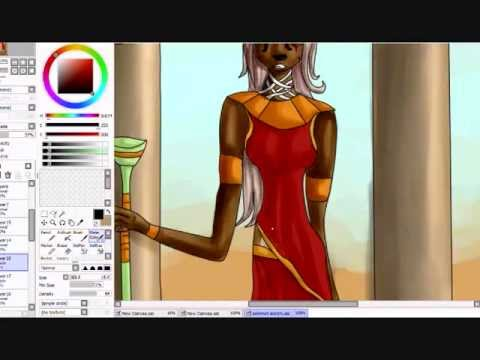 Speedpainting Sekhmet the Warrior Goddess