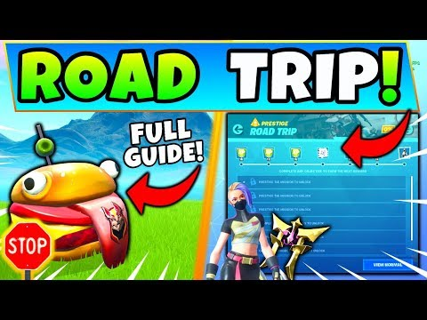 Fortnite ROAD TRIP CHALLENGES SEASON 10: Durrr Burger Head, Stone Head Statue (Fortnite Missions)