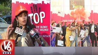 Actress Malavika Nair Flags Off 'Stop Violence Against Women' Walkathon | Hyderabad