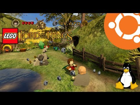Lego Lord Of The Rings Gameplay On Ubuntu Linux (CrossOver)