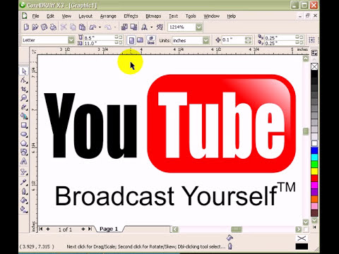You Tube Logo created in CorelDraw X3