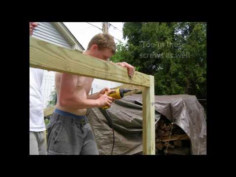How to build a Firewood-Storage Shed