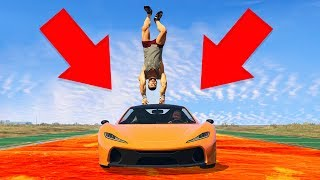 THE FLOOR IS LAVA CHALLENGE IN GTA! (GTA 5 Funny Moments)