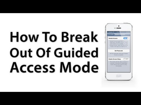 [iOS Advice] How To Disable Or Break Out Of Guided Access Mode In iOS 6