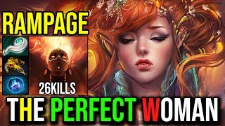 Created Monster [Lina] The Perfect Woman Epic RAMPAGE 26Kills Without Death By Yawar Dota 2 FullGame