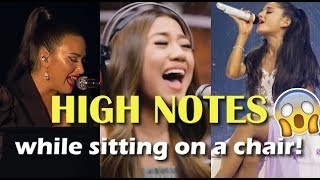 Singers SLAY HIGH NOTES while sitting on a chair!