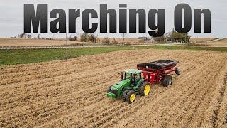 Marching On - Harvesting Corn