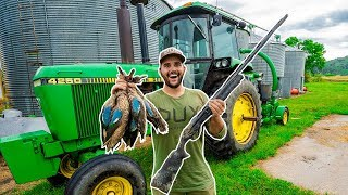 Duck Hunting My FLOODED FARM for the FIRST TIME!!! (Catch Clean Cook)