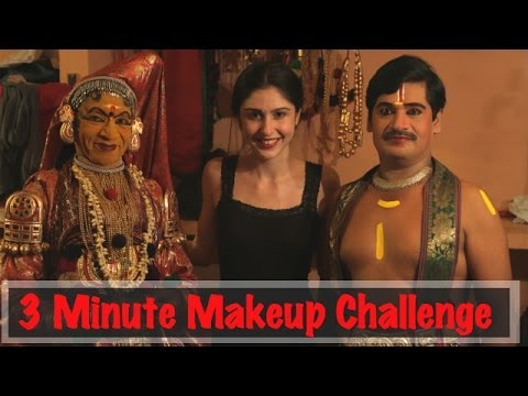 3 Minute Makeup Challenge With Kathakali Dancers- Kochi video