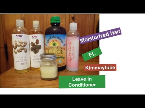 Moisturized Hair.. Ft. KimmayTube Leave In Conditioner!