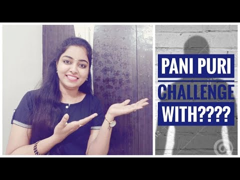 PANI PURI CHALLANGE VLOG WITH?????  AND DONT MISS THE BLOOPERS