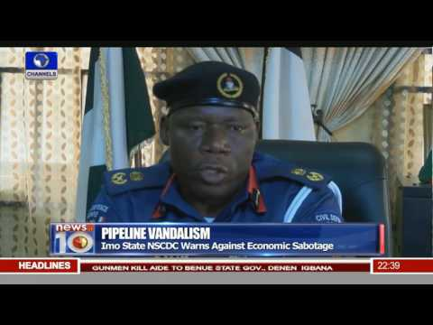 News@10: Imo State NSCDC Warns Against Economic Sabotage 20/05/16 Pt.3