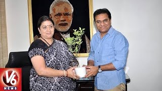 KTR Meets Union Minister Smriti Irani Over Handloom Sector Development In Telangana