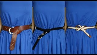 Kemer Bağlama Şekilleri/ How to Tie  Your Belt?