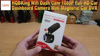 HQBKing Wifi Dash Cam 1080P Full HD Car Dashboard Camera Mini Magnetic Car DVR