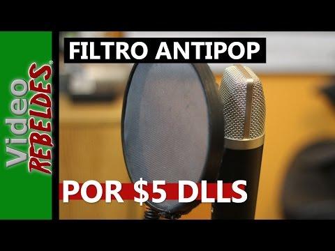 Como hacer un filtro Anti pop por 5 dlls/ Tutorial (español)