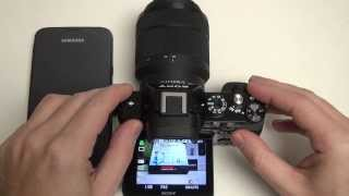 Sony A7 WiFi Demo (smart remote control app)