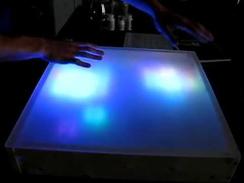 Interactive Multi-colored LED Table