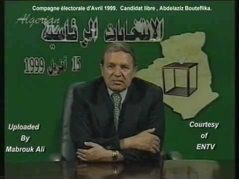 ALGERIE Abdelaziz Bouteflika - Candidat libre - Compagne électorale 1999