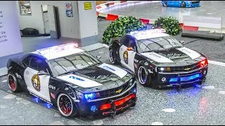 SPECTACULAR RC Car Drift Action! Chevrolet Camaro Police!