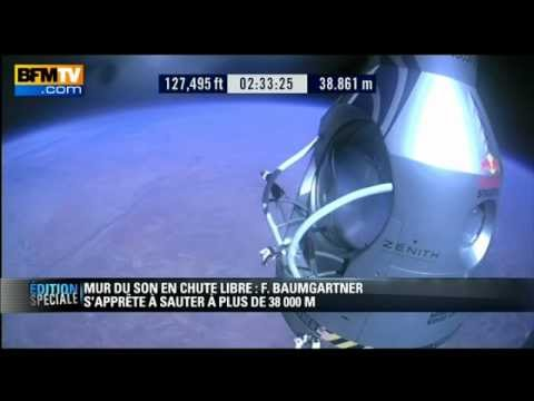 Le saut record de Felix Baumgartner-Red Bull Stratos-