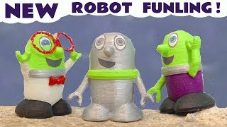 Funny Funlings New Robot Funling Story with the Paw Patrol pups