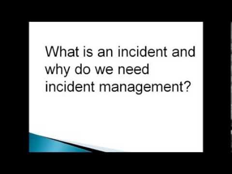 Incident Management and it's key activities