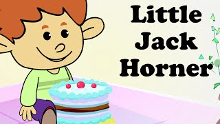 Little Jack Horner sat on a Corner | Cartoon Nursery Rhymes Songs For Children