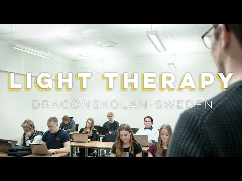 School in northern Sweden gets light therapy - Umeå Energi