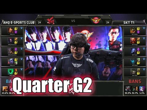 SK Telecom T1 vs ahq Game 2 | Quarter Finals LoL S5 World Championship 2015 | SKT vs AHQ G2 Worlds