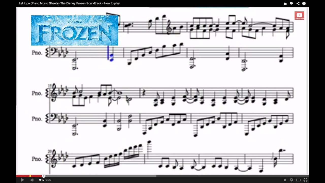 How to play let it go on the keyboard for beginners video
