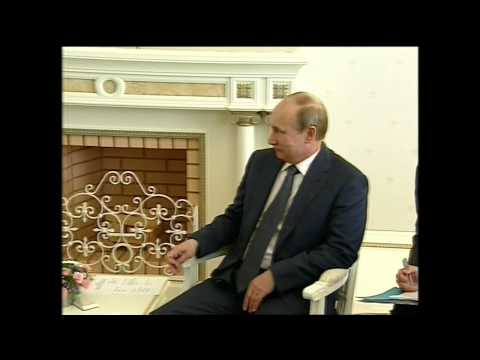 British PM David Cameron Meets Russian Vladimir Putin