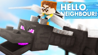 Minecraft Baby Hello Neighbour - THE NEIGHBOUR HAS A DRAGON!?