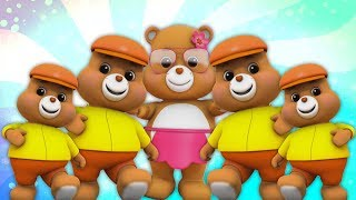gấu bông | gia đình ngón tay | vần điệu trẻ con | Preschool Songs | Teddy Bear Finger Family