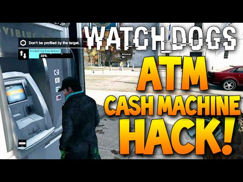 HACKING GUY WHILE STANDING NEXT TO A CASH MACHINE (ATM) Live Watch Dogs Online Hacking!