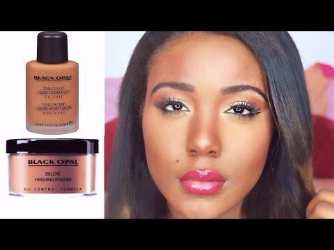 MAC FOUNDATION DUPE?! FLAWLESS SKIN ROUTINE I Black Opal Foundation + Powder