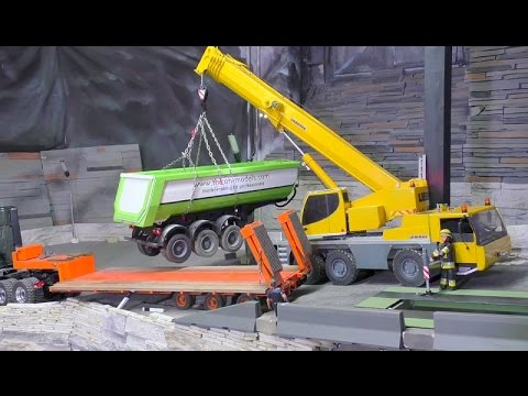 RC FATAL TRUCK ACCIDENT, RC TRUCK AND 3 AXLE TRAILER RESCUE