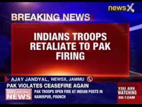 Shameless Pakistan violates ceasefire again