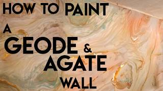 How to Paint a Geode and Agate Accent Wall for your studio. DIY Mural Decorative  Painting