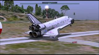 Space Shuttle attempted Landing at St. Barts! (X-Plane 10)