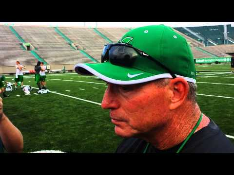Marshall Football Head Coach Doc Holliday Post Practice Interview 8-11