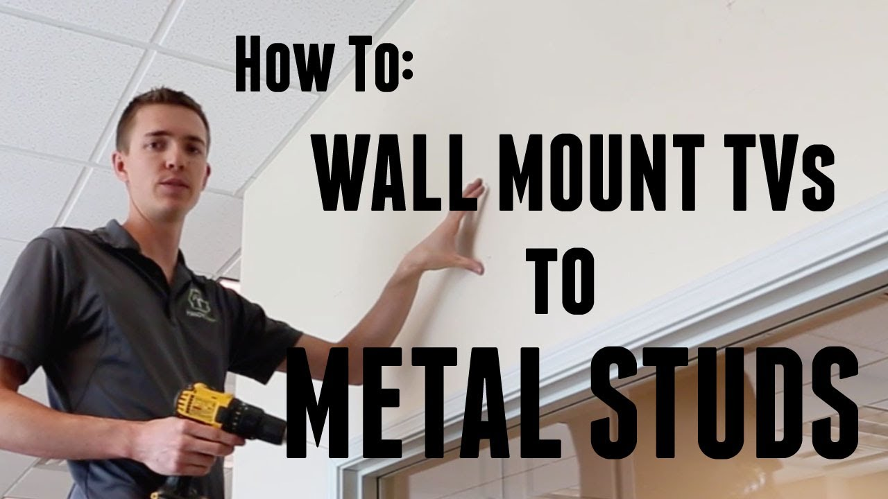 how to wall mount a tv to metal studs youtube. Black Bedroom Furniture Sets. Home Design Ideas