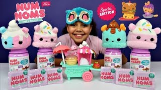 Num Noms Smell Challenge - Num Noms Series 3  Surprise In A Jar - Cupcake Chocolate - Popcorn Cart