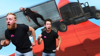 Dodge The Falling Trucks Challenge! | GTA5