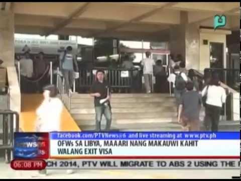 News@6: OFWs sa Libya, maaari nang makauwi kahit walang exit visa || Aug. 1, 2014